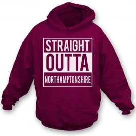 Straight Outta Northamptonshire Kids Hooded Sweatshirt