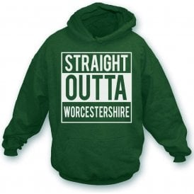 Straight Outta Worcestershire Kids Hooded Sweatshirt