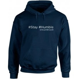 "Stuart Broad ""Stay Humble"" Twitter Hooded Sweatshirt"