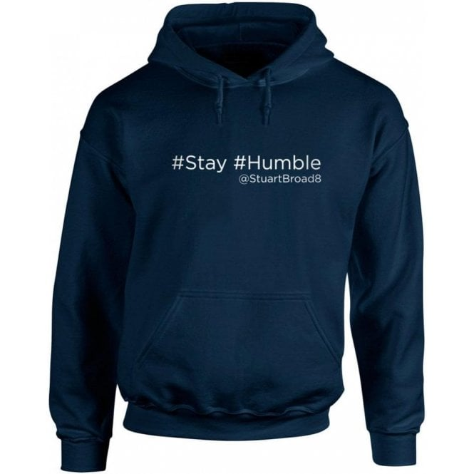 "Stuart Broad ""Stay Humble"" Twitter Kids Hooded Sweatshirt"