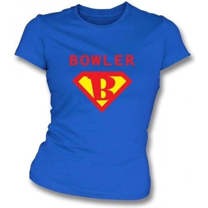 Super Bowler (Superman) Womens Slim Fit T-shirt
