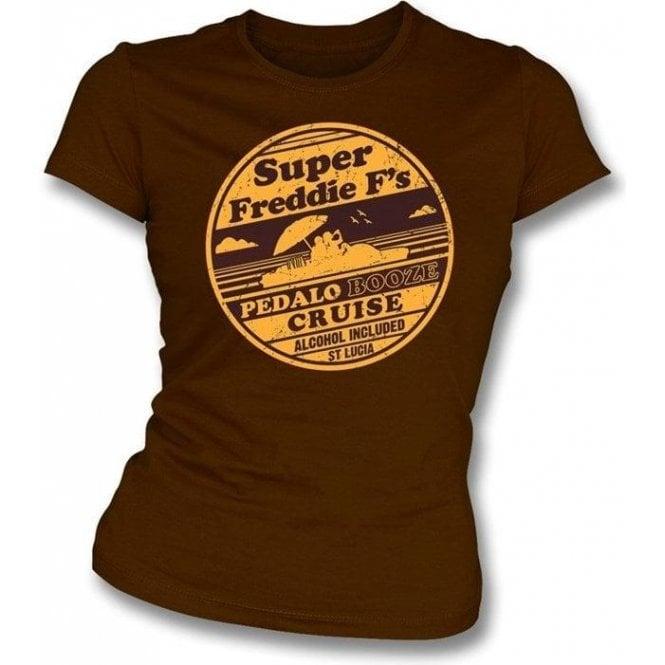 Super Freddie F's Pedalo Booze Cruise Womens Slim Fit T-Shirt