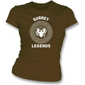 Surrey Legends (Ramones Style) Womens Slim Fit T-Shirt