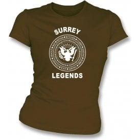 Surrey Legends (Ramones Style) Womens Slim Fit T-Shirt