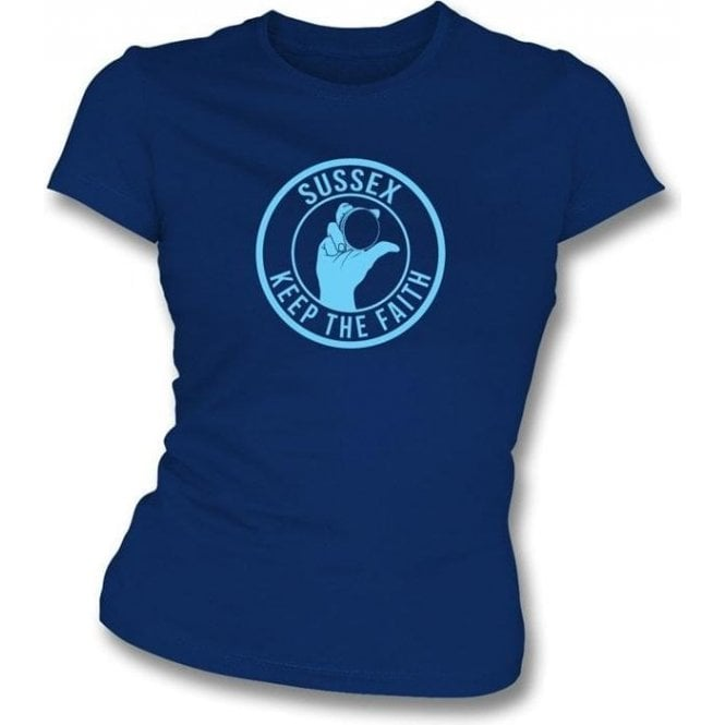 Sussex Keep The Faith Women's Slimfit T-shirt