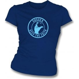 Sussex Keep The Faith Women's Slimfit T-shirt