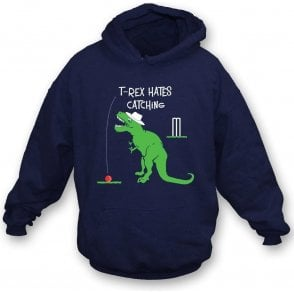 T-Rex Hates Catching Kids Hooded Sweatshirt