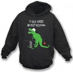 T-Rex Hates Wicketkeeping Kids Hooded Sweatshirt