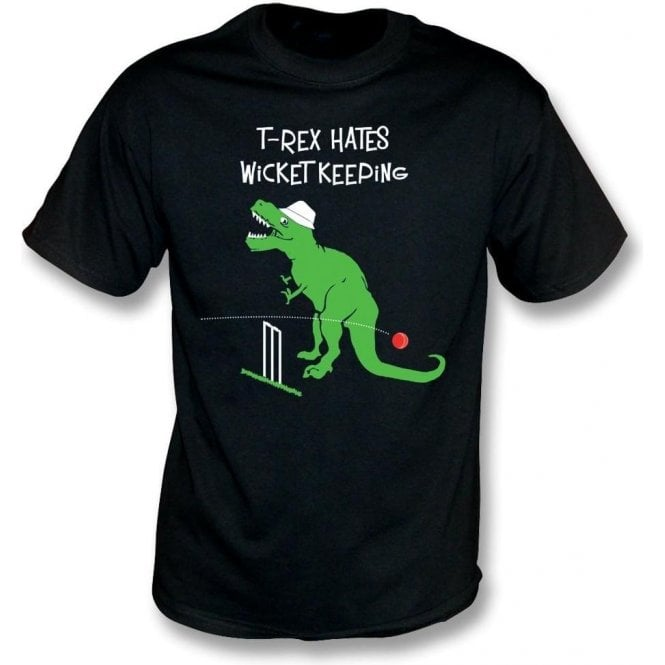 T-Rex Hates Wicketkeeping Kids T-Shirt