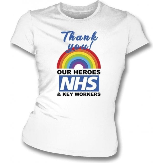 Thank You Key Workers Womens Slim Fit T-Shirt