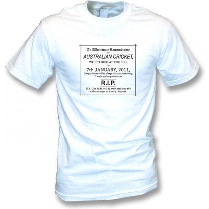 The Day Australian Cricket Died 07/01/2011 Children's T-shirt