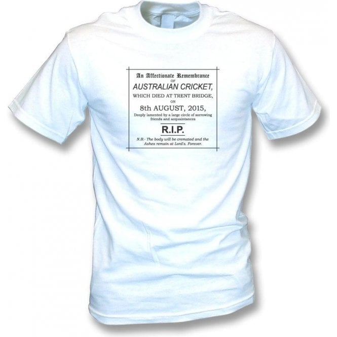 The Day Australian Cricket Died 08/08/2015 Vintage Wash T-Shirt