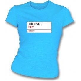 The Oval SE11 Women's Slim Fit T-shirt (Surrey)