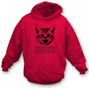 This Cat Loves Cricket Hooded Sweatshirt