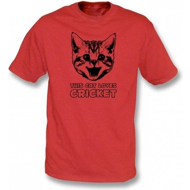 This Cat Loves Cricket T-Shirt