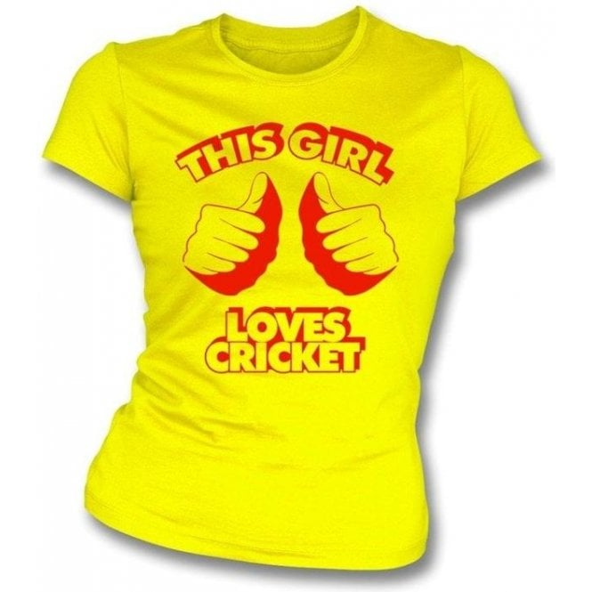 This Girl Loves Cricket- Ladies Slimfit T-shirt