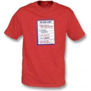 To Do List Children's T-shirt