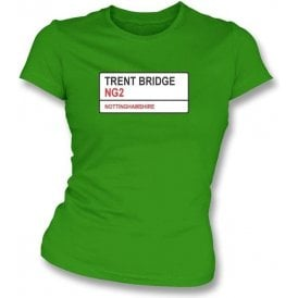 Trent Bridge NG2 Women's Slim Fit T-shirt (Nottinghamshire)