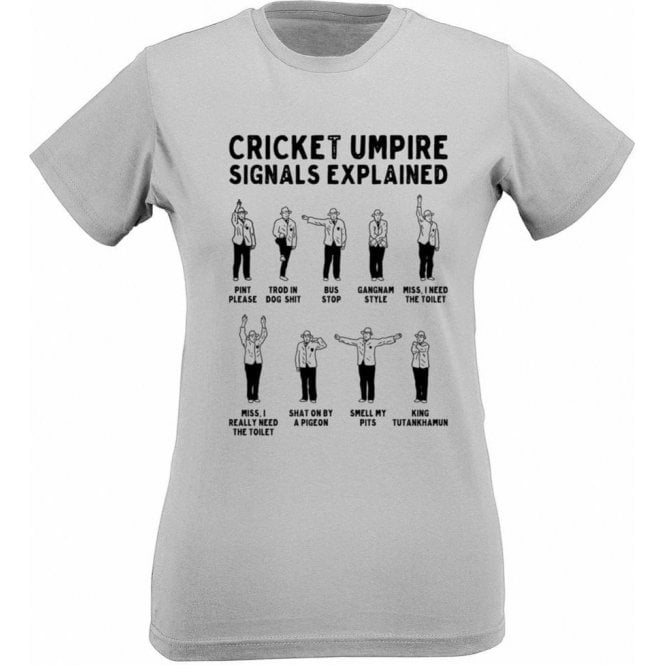 Umpire Signals Womens Slim Fit T-Shirt