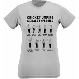 Umpire Signals Womens Slim Fit T-Shirt