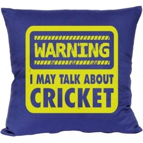 Warning: I May Talk About Cricket Cushion