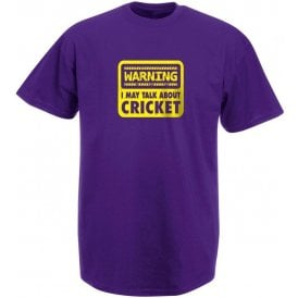 Warning: I May Talk About Cricket Kids T-Shirt