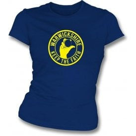 Warwickshire Keep The Faith Women's Slimfit T-shirt