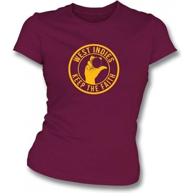 West Indies Keep The Faith Women's Slimfit T-shirt