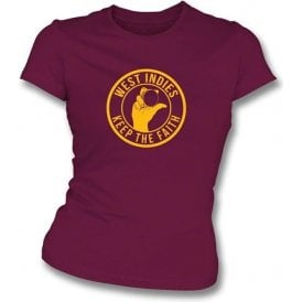 West Indies Keep The Faith Women's Slimfit T-shirt