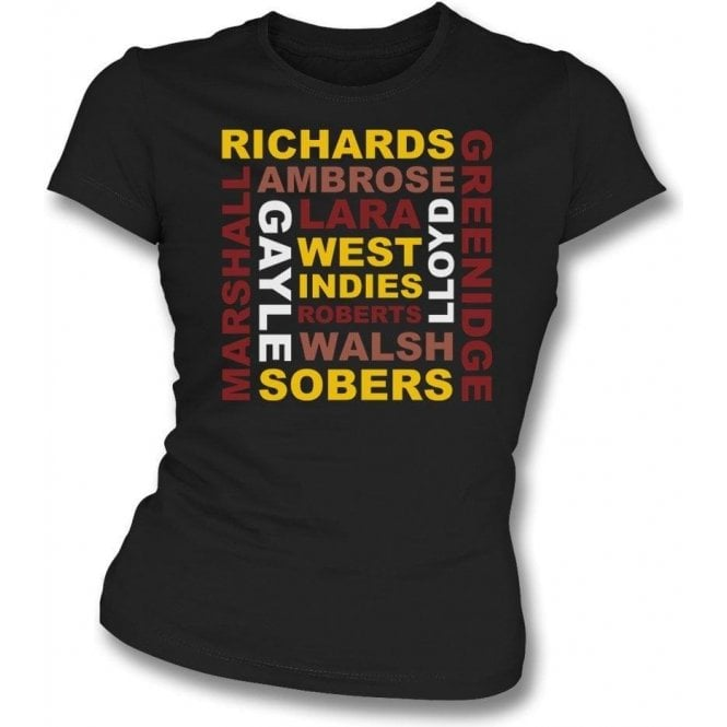 West Indies World Cup Legends Womens Slim Fit T-Shirt