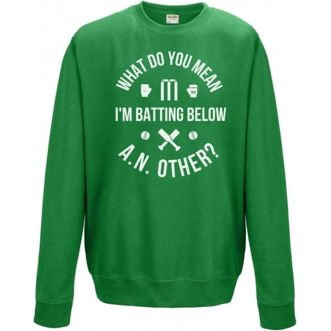 What Do You Mean I'm Batting Below A.N.Other? Kids Sweatshirt
