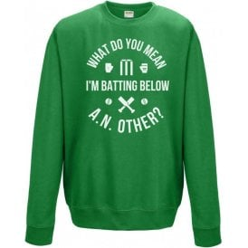 What Do You Mean I'm Batting Below A.N.Other? Sweatshirt