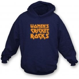 Women's Cricket Rocks Kids Hooded Sweatshirt