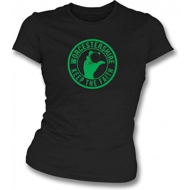 Worcestershire Keep The Faith Women's Slimfit T-shirt