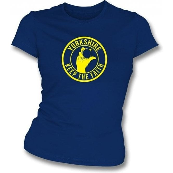 Yorkshire Keep The Faith Women's Slimfit T-shirt