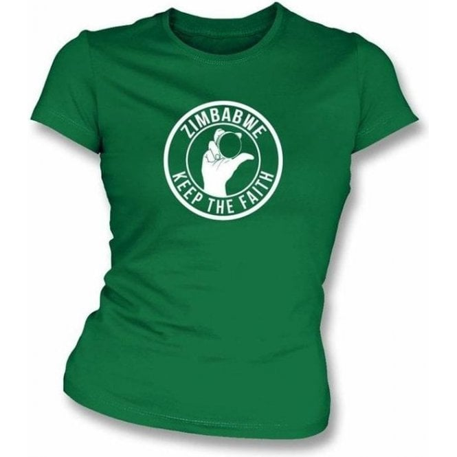Zimbabwe Keep The Faith Women's Slimfit T-shirt